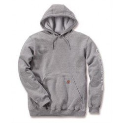 Midweight sleeve logo hooded