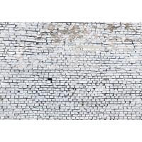 Flotte hvide murerstens væg