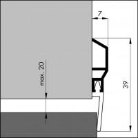 tætningsliste til døre / gulvtæppe
