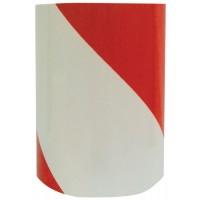 rød / hvid reflextape