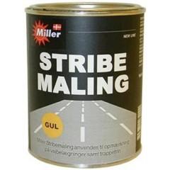 Miller stribemaling Gul